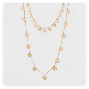 Sugarfix by Baublebar layered gold coin necklace